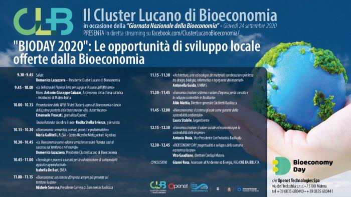 """Locandina Convegno - """"BIODAY 2020"""": Le opportunità di sviluppo locale offerte dalla Bioeconomia"""